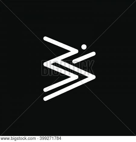 Triangle Om Symbol. Om Is A Hinduism Holy Symbol.