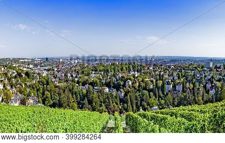 Wiesbaden, Germany As Viewed From Neroberg, A Hill To Its North, Where Visitors May View A Panorama
