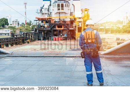 Marine Deck Officer Or Chief Officer On Deck Of Vessels Or Sea-back Vessels