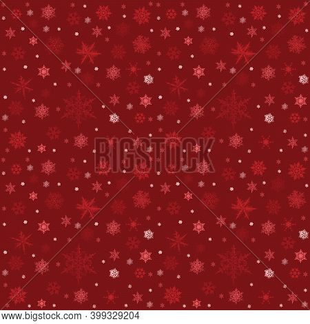 Seamless Pattern And Patterm For Merry Christmas And New Year. Holiday Wallpaper. Winter Infinite Ba