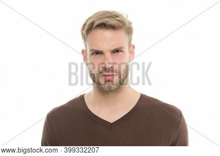 Beard Grooming And Hair Care In Hairdresser. Well Groomed Handsome Man. Styles Of Male Clothes. Refr