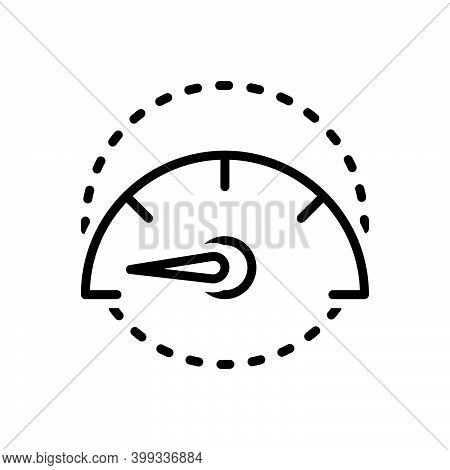 Black Line Icon For Slowly Slow Unhurried Stilly Accelerate Gauge Speedometer Indicator Test Control