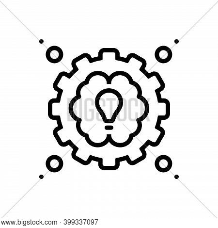 Black Line Icon For Practical Usual Functional Practicable Conceptual Expert Performance Idea Functi