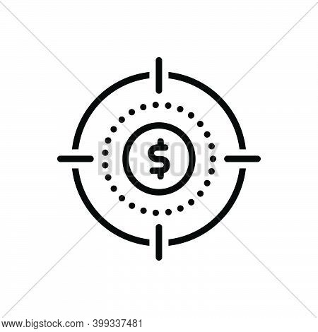 Black Line Icon For Precisely Absolutely Accurately Shoot Target Price Achievement