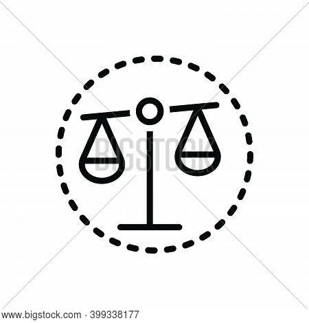 Black Line Icon For Bias Prejudice Partiality Balance Equilibrium Justice