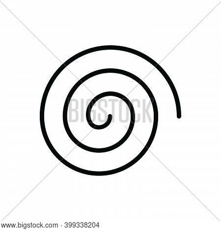 Black Line Icon For Hurricane Vortex Cyclone Storm Typhoon Meteorology Maelstrom Catastrophe