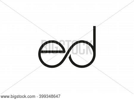 Ed Letter Logo Design Vector. Initial Letter Ed Logo With Modern Trendy