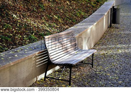 Bench, Wall, Retaining, Footpath, Landscaping, Autumn, Beauty, Benches, Black, Brick, Bridge, City,