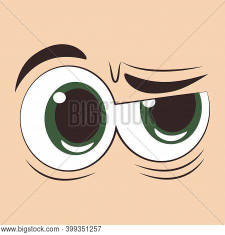 Indignant Eyes Icon Vector Illustration Design Isolated