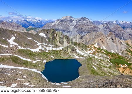 Image Of The Lac Blanc (white Lake) Located At 2699 M On Vallee De La Claree (claree Valley) In Haut