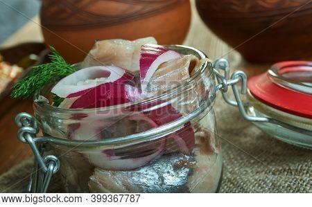 Glasmastarsill - Swedish-danish Cuisine, Glazier Herring, Marinated Herring Fillet