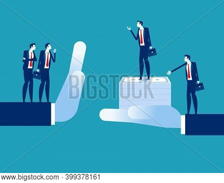 Business People With Acquisitions And Rejection. Business Finance And Industry