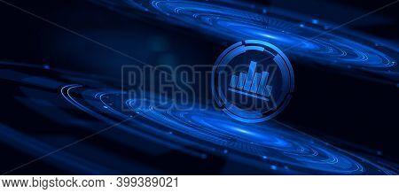 Analysis Business Intelligence Analytics Bi Financial Data Processing.