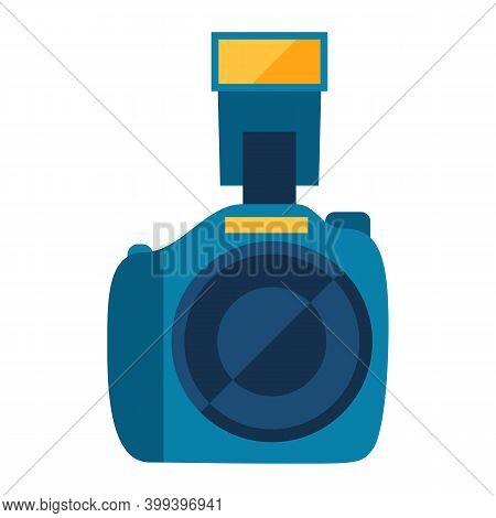 Illustration Of Photo Camera. Stylized Photographic Icon.