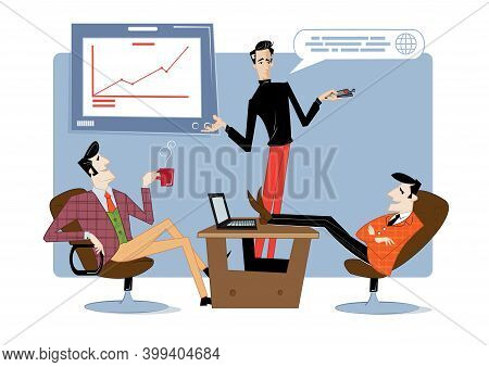 Business Startup And Communication Abstract Concept Vector Illustration. Startup Hub, Financial Supp