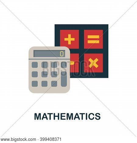 Mathematics Flat Icon. Color Simple Element From Stem Education Collection. Creative Mathematics Ico