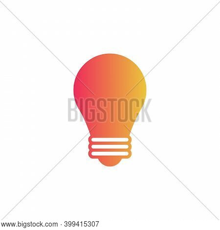 Light Bulb Icon On White Background Stock Vector Illustration