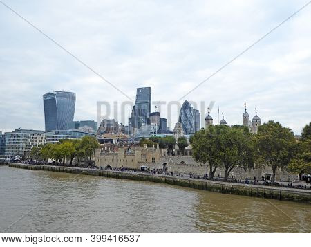 River Thames And The Tower Of London, England