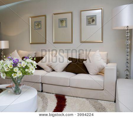 Moderna sala de luxo