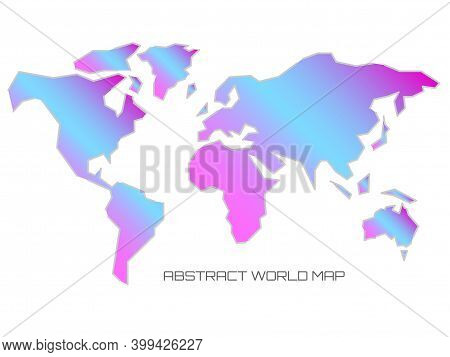 Linear Silhouette World Map. Outline Minimal Style Design
