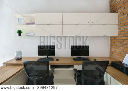 Clean Comfortable And Tidy Modern Office Space