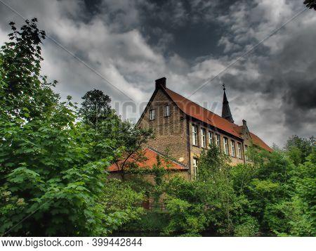 old castle in the western german muensterland