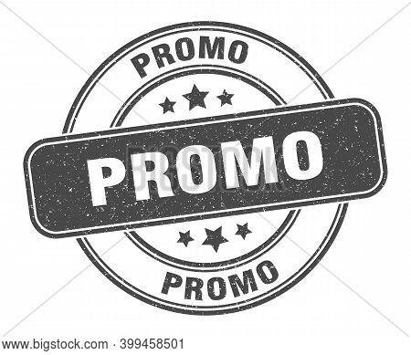 Promo Stamp. Promo Label. Round Grunge Sign