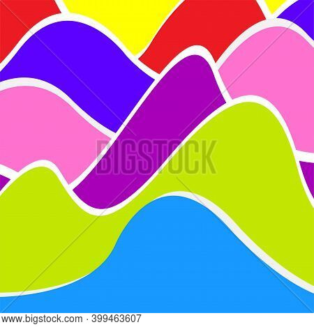 Colorfull Wavy Background, Abstract Shape For Your Design