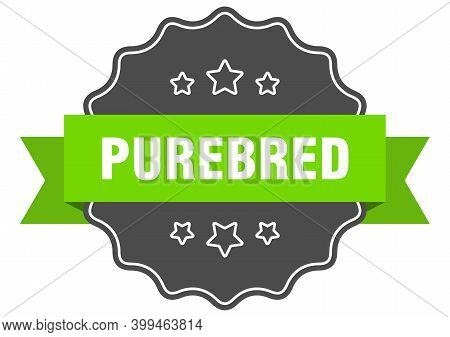 Purebred Label. Purebred Isolated Seal. Sticker. Sign