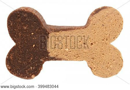Dog biscuit snack for pets shaped as bone