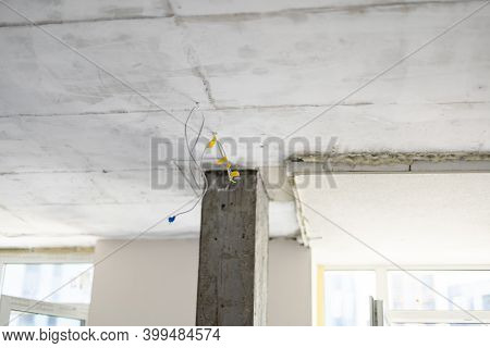 Gypsum Walls In Apartment Is Under Construction, Remodeling, Renovation, Extension, Restoration And