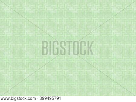 Abstract illustration of abstract geometric shapes in seamless pattern against green background. illustrations with abstract shapes and seamless pattern background concept
