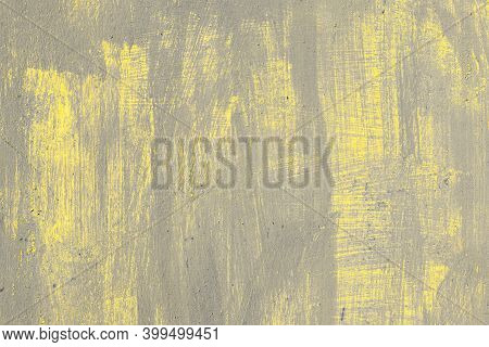 Rusty Metal Texture, Unevenly Painted In Colors Of The Year 2021, Flawless Ultimate Gray And Illumin