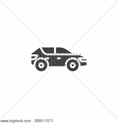 Suv Car Vector Icon. Filled Flat Sign For Mobile Concept And Web Design. Crossover Car Glyph Icon. S