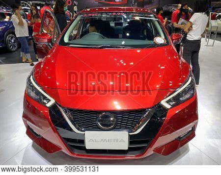 Bangkok Thailand 12 Dec 2020: Nissan All New Almera Show In The Motor Expo 2020 Exhibitions In Bangk