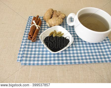 Spice Tea, Chai With Black Cumin Seeds, Ginger, Cinnamon And Cardamom