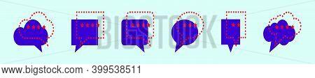 Set Of Testimonial Speech Bubble Cartoon Icon Design Template With Various Models. Modern Vector Ill