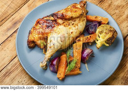 Roasted Partridge With Pumpkin