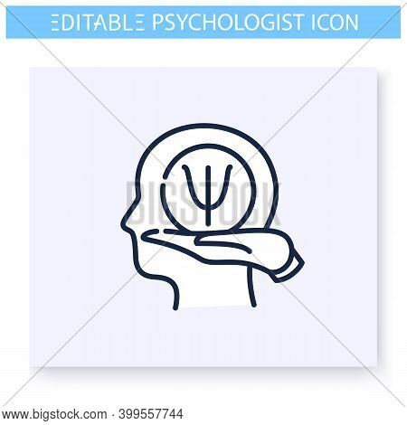 Psychological Help Line Icon. Psychologic, Cognitive Problems. Helpline. Psychotherapy. Mental Healt