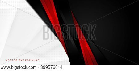 Template Corporate Concept Red Black Grey And White Contrast Background. You Can Use For Ad, Poster,