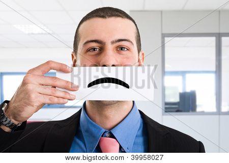 Portrait of an unhappy businessman