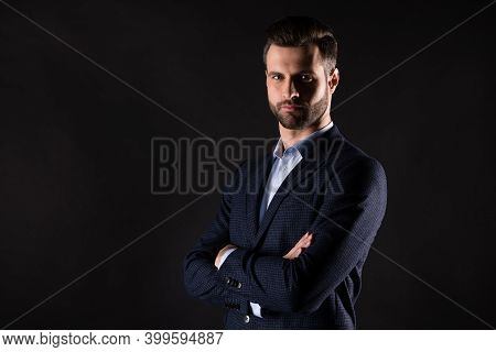 Profile Side View Portrait Of His He Nice Attractive Content Elegant Classy Chic Imposing Guy Shark
