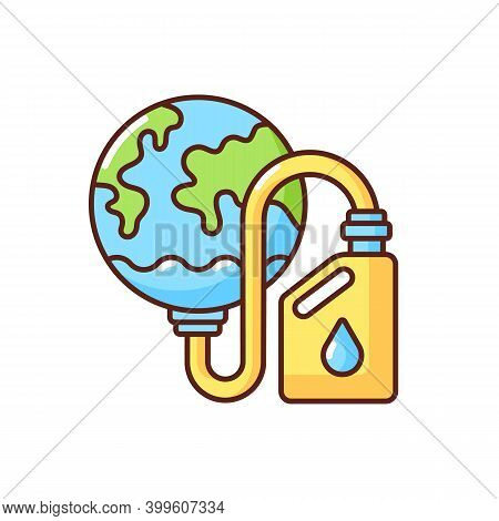 Biological Resources Depletion Rgb Color Icon. Consumption Of Resources Faster Than Can Be Replenish
