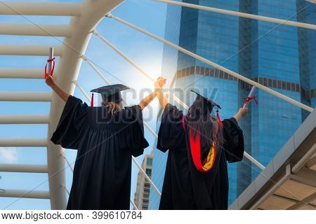 University Graduates, Are Happy With Their Educational Achievements, And Are Committed To Bringing T