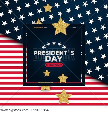 Holiday Background With Balloons For Usa President S Day Poster, Banner, Advertisment, Promotion. Ve