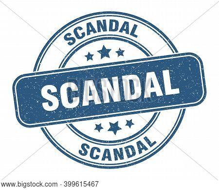Scandal Stamp. Scandal Label. Round Grunge Sign