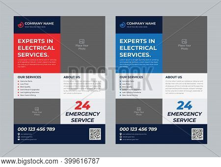 Electrician Flyer, Electrical Service Ad, Wiring, Contractor, Contractor Flyer