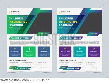 Children Learning Flyer, School Admission Ad, Back To School Promotion