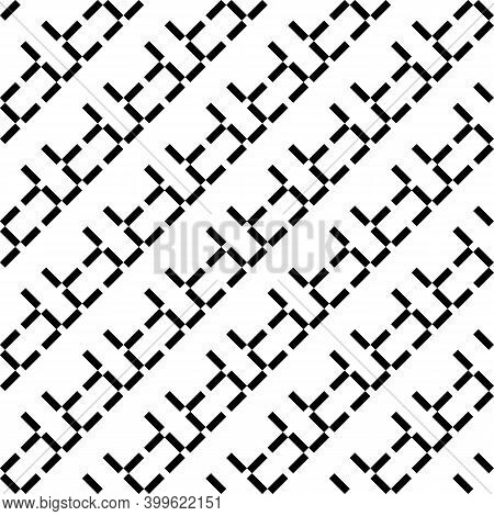 Seamless Pattern. Diagonal Rectangles Background. Linear Ornament. Angled Strokes Motif. Slanted Das