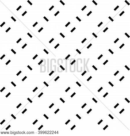 Seamless Pattern. Diagonal Strokes Ornament. Linear Background. Angled Stripes Motif. Slanted Dashes